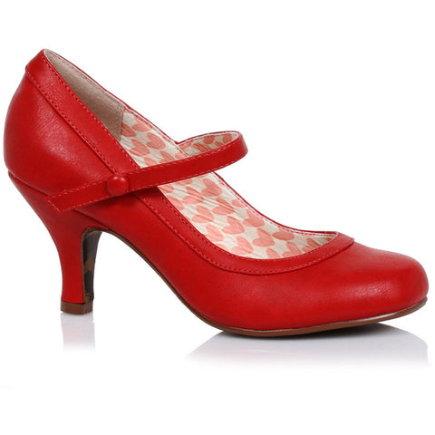 Women's Bettie Page Shoes Bettie Retro Mary Jane Heel Red Vintage Rockabilly