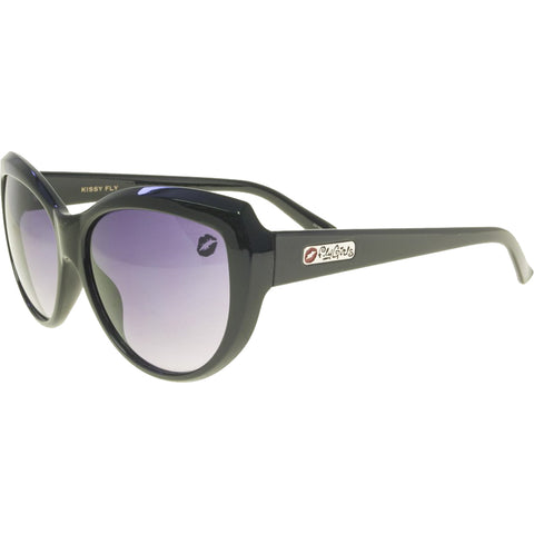 Women's Black Flys Kissy Fly Sunglasses Fly Girls Slight Cateye