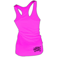 Women's Cartel Ink Big Machine Racer Back Tank Pink