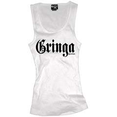 Women's Cartel Ink Gringa Beater Tank Top White Slang