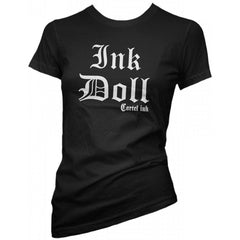 Women's Cartel Ink Ink Doll T-Shirt Black Inked Tattooed Tattoo Lifestyle