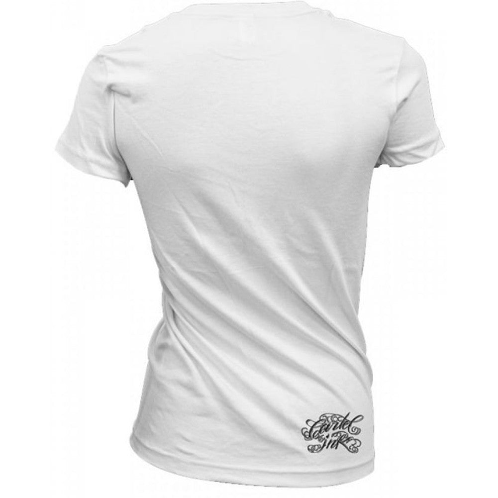 Women's Cartel Ink Keep Classy T-Shirt White Never Trashy Just A Little Nasty
