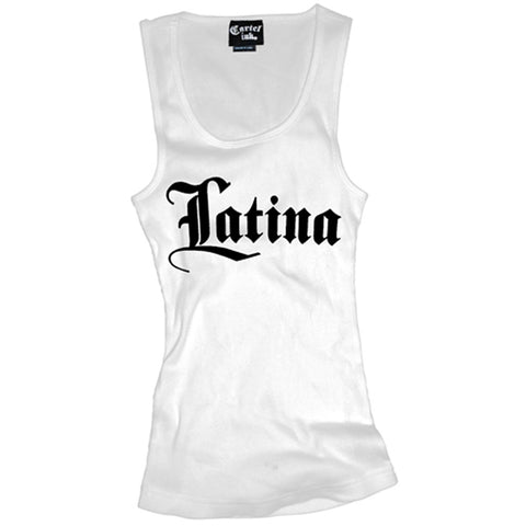 Women's Cartel Ink Latina Beater Tank Top White Pride