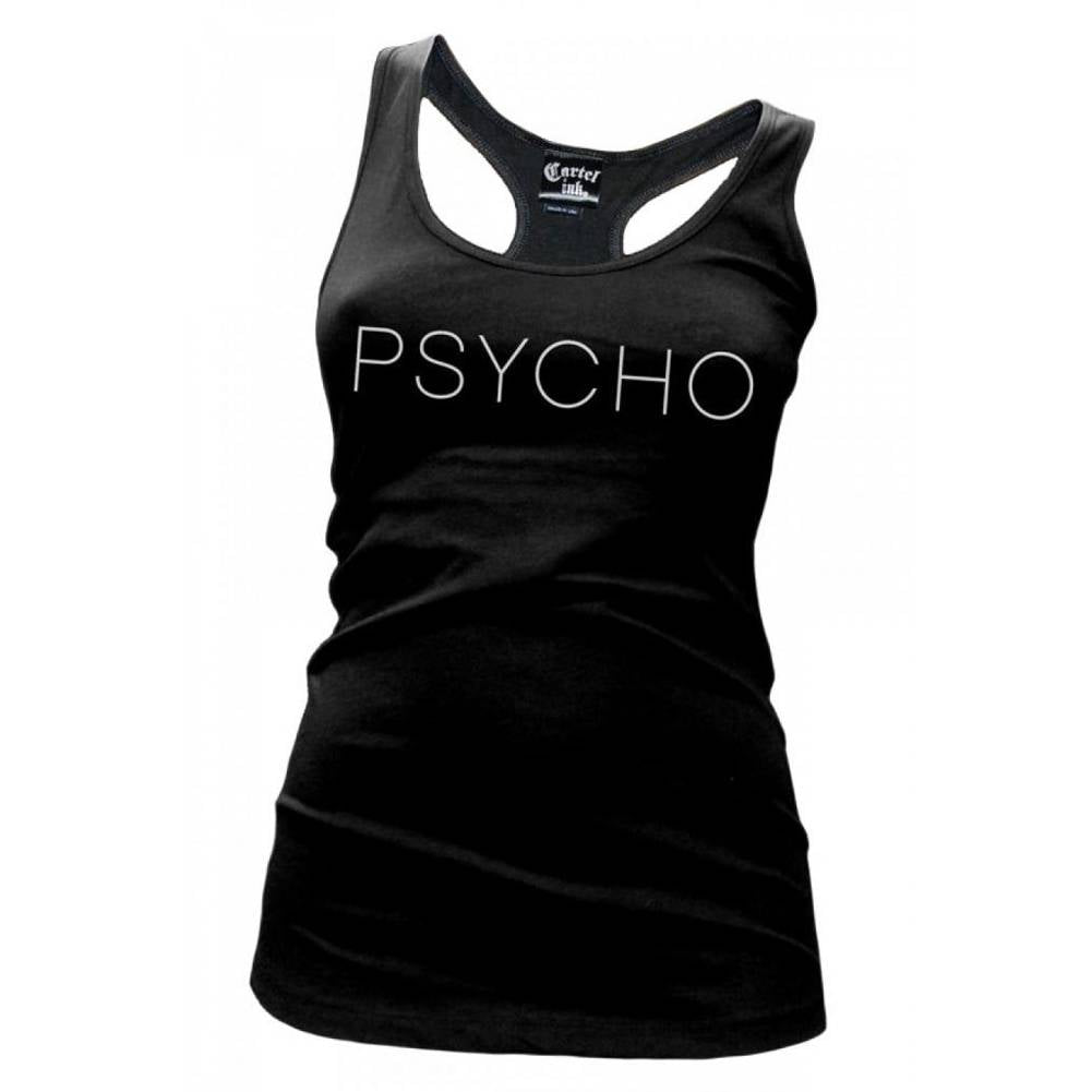 Women's Cartel Ink Psycho Racer Back Tack Top Crazy