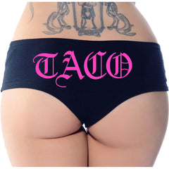 Women's Cartel Ink Taco Booty Shorts Black/Pink Taco Love