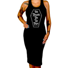 Cartel Ink Till Death Do Us Part Fitted Tank Dress Black Coffin Goth