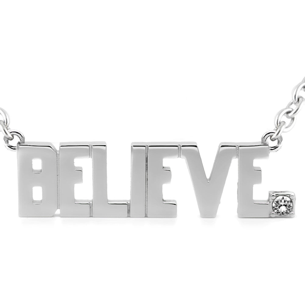 Women's Controse Jewelry BELIEVE Pendant Necklace With Swarovski Crystal