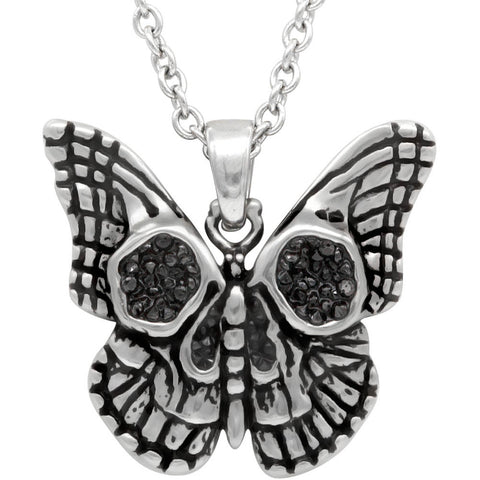 Women's Controse Jewelry Butterfly Skull Necklace