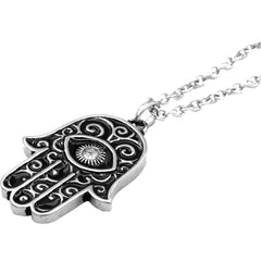 Controse Jewelry Crystal-Eyed Hamsa Necklace Spiritual Symbol of Protection