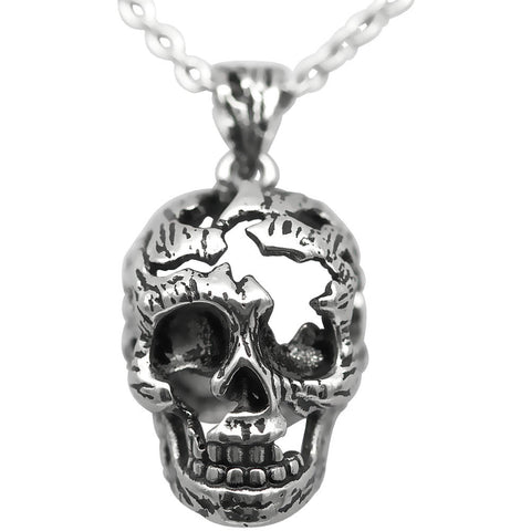 Women's Controse Jewelry Fractured Skull Necklace