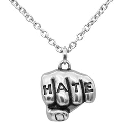 Controse Jewelry Love N Hate Tattooed Hands Necklaces Set Inked Knuckles