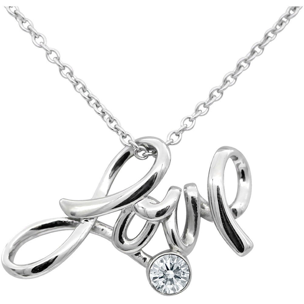 Controse Jewelry Love Necklace With Swarovski Crystal Pendant