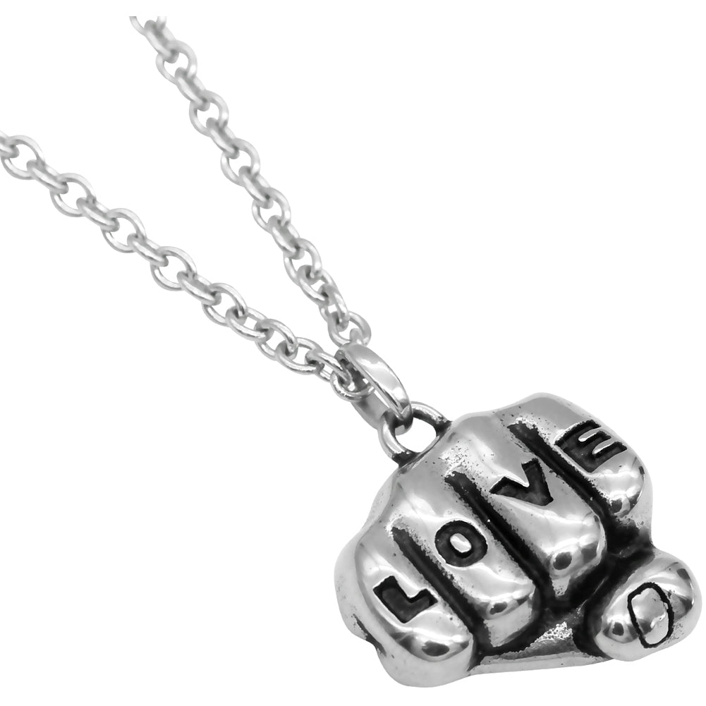 Controse Jewelry Love Tattooed Hand Necklace Inked Knuckles