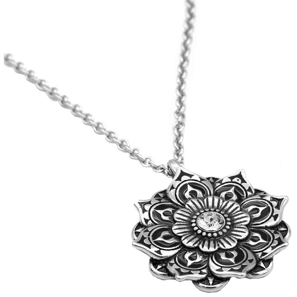 langhong spiritual amulet lotus retro zenshopworld tibet necklace products jewelry pendant geometry religious flower mandala