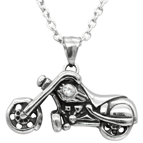 Women's Controse Jewelry Motorcycle Necklace with Swarovski Crystal