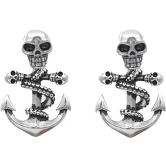 Controse Jewelry Octo-Skull Anchor Earrings Tentacles Nautical