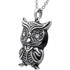 Women's Controse Jewelry Owl Crystal Eyes Necklace