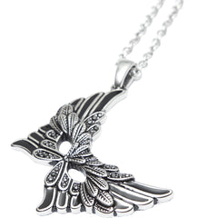 Controse Jewelry Shimmering Carnival Mask Necklace Wings