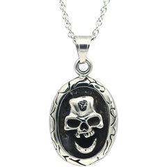 Controse Jewelry Skull Cameo Necklace Alternative Punk Goth Metal