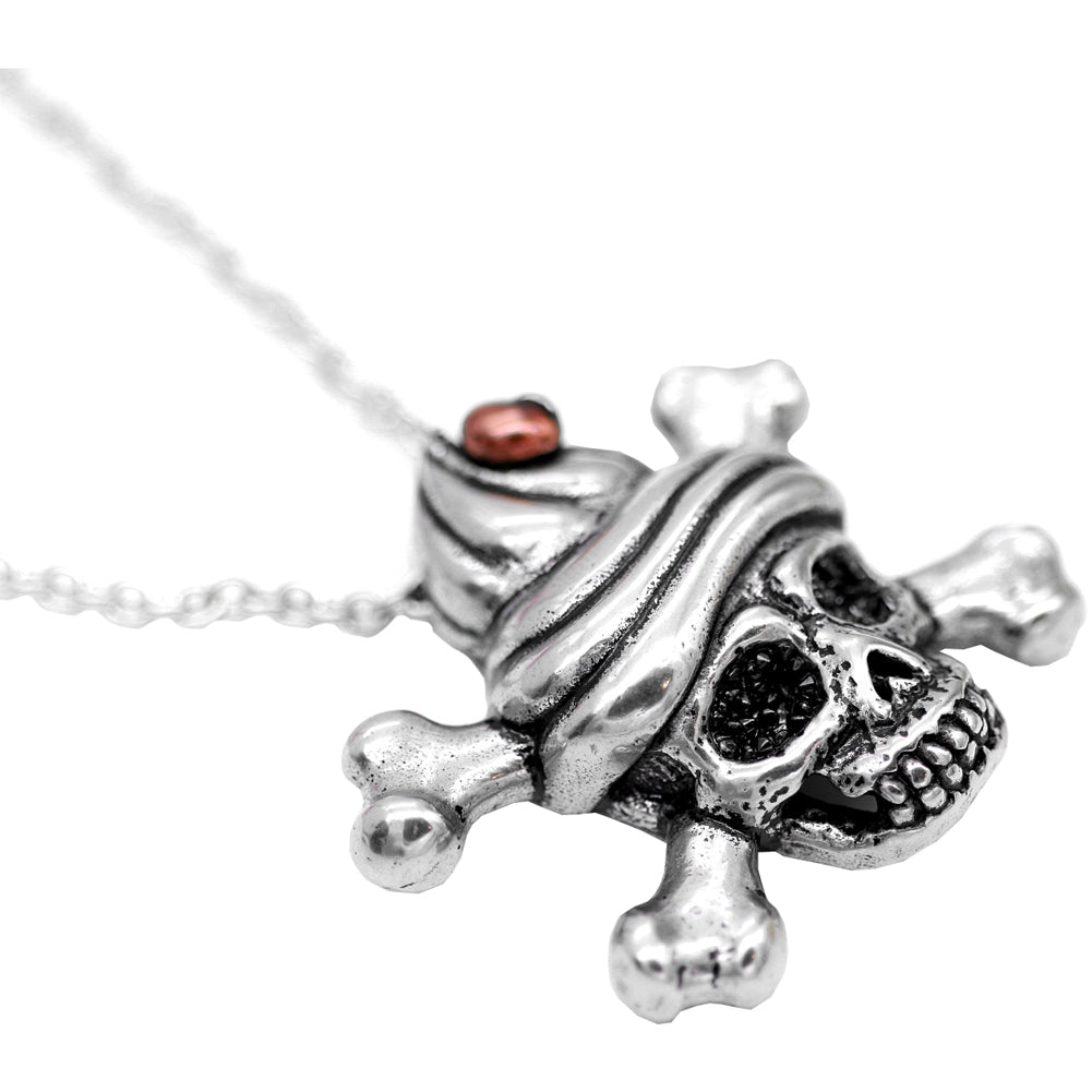 Controse Jewelry Sweet & Deadly Skull Necklace Skull Crossbones Cupcake