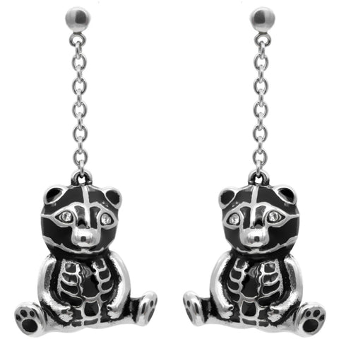 Controse Jewelry Teddy Bear Sitting Pretty Earrings Skeleton Dangle Earrings