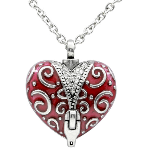Controse Jewelry Unzip the Veil Heart Necklace Swarovski Crystals