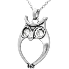 Controse Jewelry Watchful Owl Necklace Swarovski Crystal