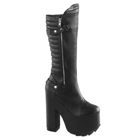 Women's Demonia CRAMPS-200 Black Leather Boot Punk Goth