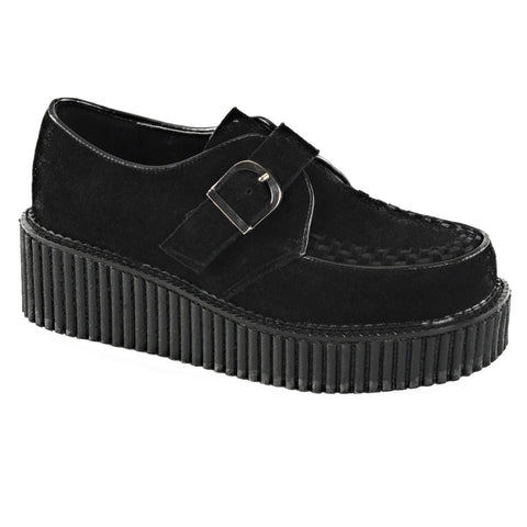 Women's Demonia Creeper-118 Platform Shoe Black Punk Goth Psychobilly