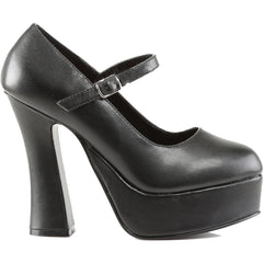 Women's Demonia Dolly-50 Mary Jane Platform Pump Black Rockabilly