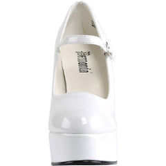 Women's Demonia Dolly-50 Mary Jane Platform Pump White Rockabilly