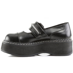 Women's Demonia Emily-306 Mary Jane Platform Shoe Black Zipper Punk Goth