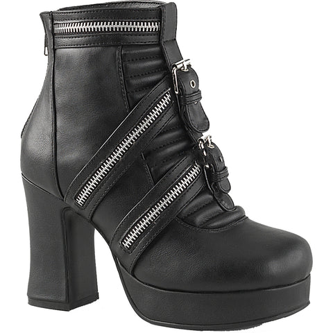 Women's Demonia GOTHIKA-50 Platform Ankle Boot Black Goth Nu Goth Punk