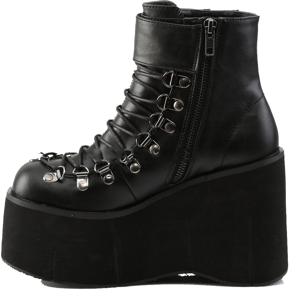 Women's Demonia KERA-21 Platform Ankle Boot Black Goth Punk