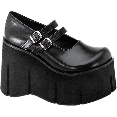 Women's Demonia Kera-08 Double Strap Mary Jane Platform Shoe Black