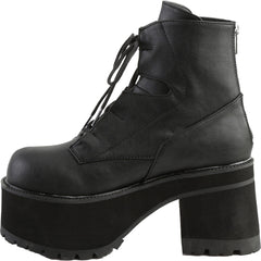 Women's Demonia RANGER-102 Platform Ankle Boot Black Goth Punk