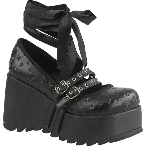 Women's Demonia SCENE-20 Platform MaryJane Shoe Black Goth Nugoth Punk