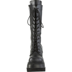 Women's Demonia Shaker-72 Platform Mid-Calf Boot Black Goth Punk
