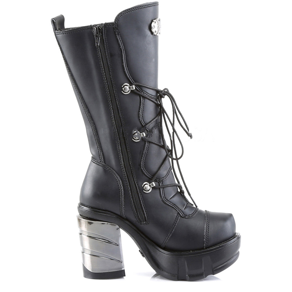 Women's Demonia Sinister-203 Platform Calf Boot Black