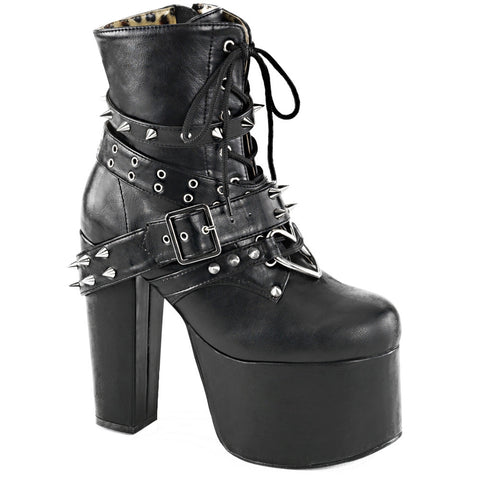 68a6bb1b4b8 Women s Demonia Torment-700 Platform Ankle Boot Black