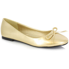 Women's Ellie Shoes 016-Mila Flat Gold Ballet Flat