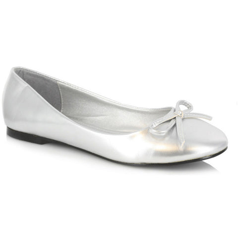 Women's Ellie Shoes 016-Mila Flat Silver Ballet Flat