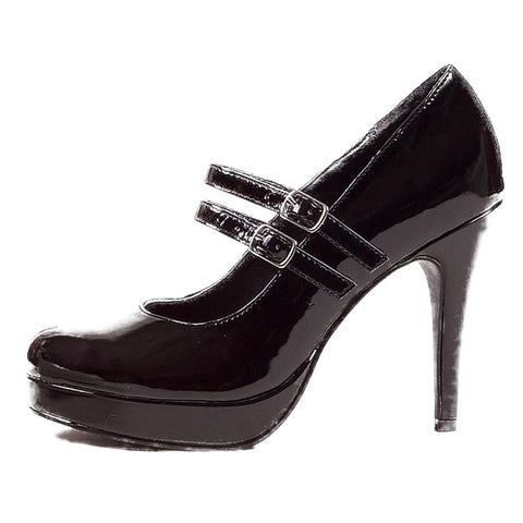 Women's Ellie Shoes 421-Jane Platform Pump Black Maryjane Retro Pin Up
