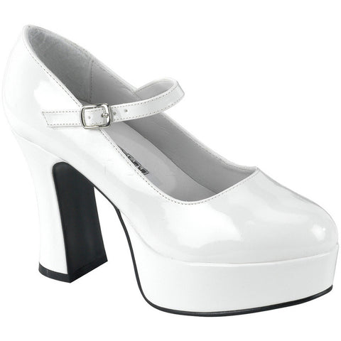 Women's Funtasma Maryjane-50 Platform Mary Jane Pump White Rockabilly
