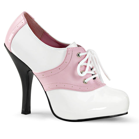 Women's Funtasma Saddle-48 Platform Shoe White/Pink Retro Vintage Rockabilly