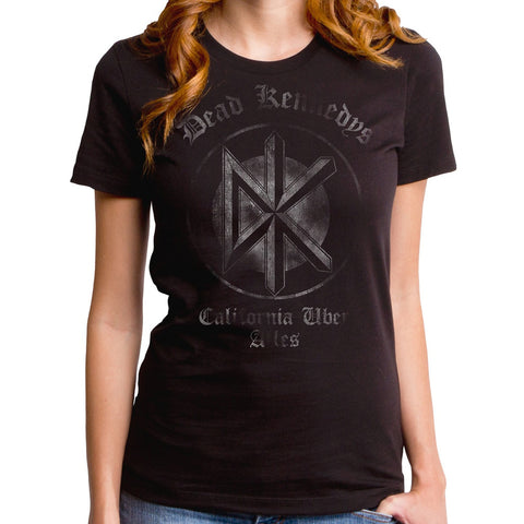 Women's Goodie Two Sleeves Dead Kennedys Classic Alles T-Shirt Black Punk Rock