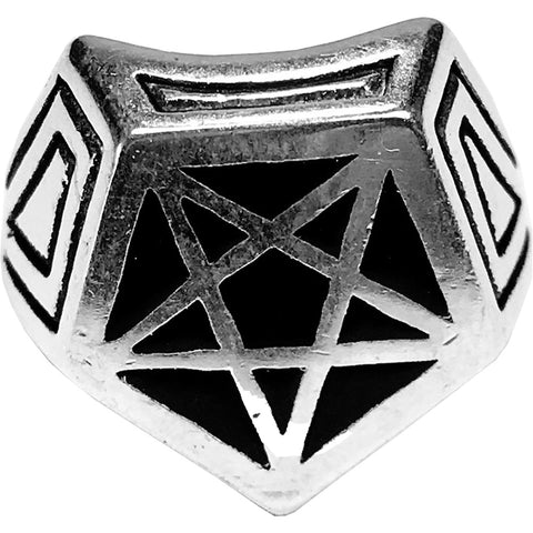 Gypsy Treasures Pentagram Biker Ring Occult Witch Witchcraft Goth