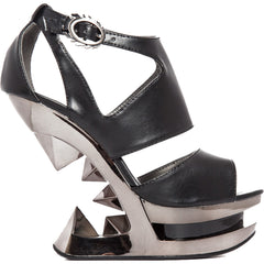 Hades HANYA Pyramid Iceburg Wedge Heel Black Goth Punk Alternative