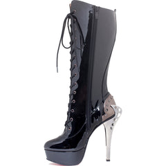 Women's Hades Led Platform Boot Black Goth Punk Steampunk