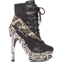 Hades MINA High Heel Boot Black Goth Steampunk Alternative